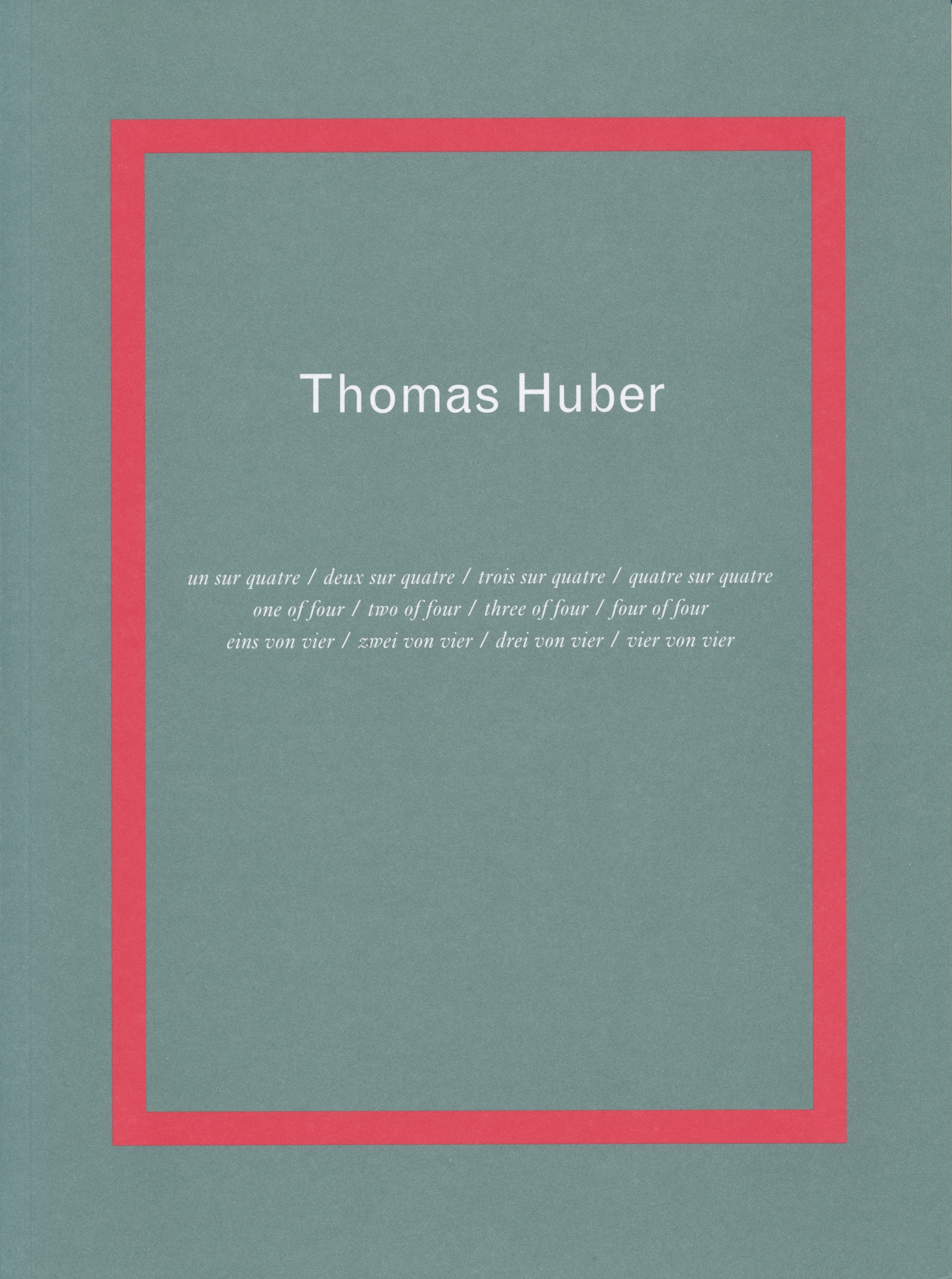 Couverture Thomas Huber