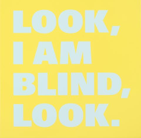 Rémy Zaugg, Look/I am/Blind/Look (Nr16), 1998-1999