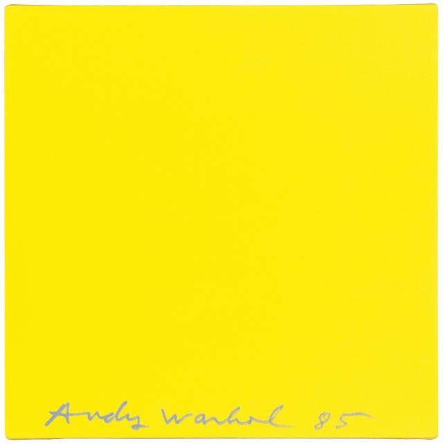 Olivier / Andy Mosset / Warhol, Sans titre (Yellow Square), 1979/1985